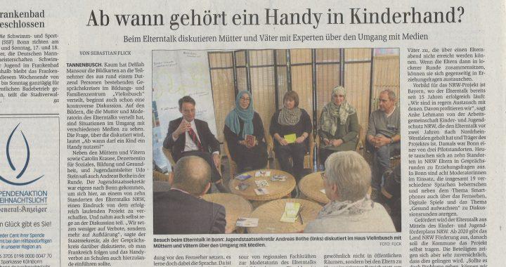 Presseartikel GA 151118 Elterntalk Haus Vielinbusch